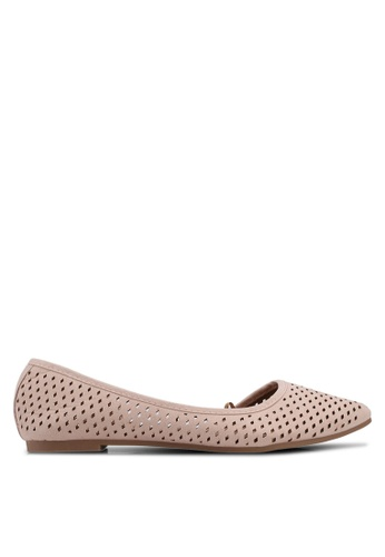 Rubi pink Piper Laser Point Flats 6B82ASHBEA7248GS_1
