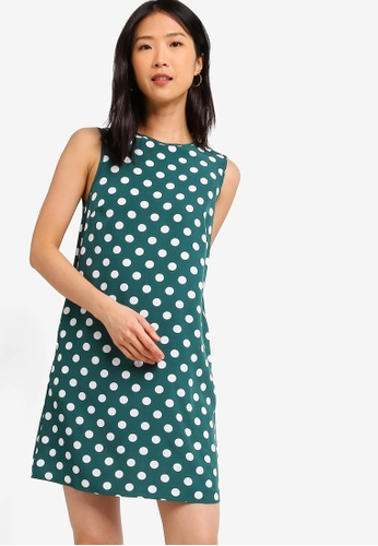 ZALORA BASICS green Basic Shift Dress 548E2AA0B48C19GS_1
