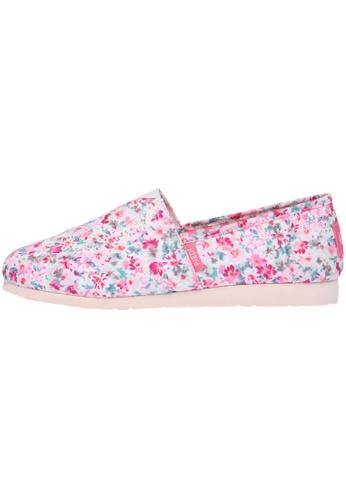 paperplanes Paperplanes-1325 Elegant Flower Pattern Canvas Slip-Ons Shoes US Women Size PA110SH37EVYHK_1