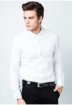 Men's Basic Long Sleeve Shirt with Pocket