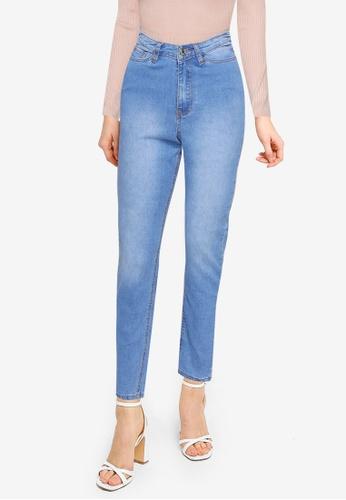 MISSGUIDED blue Mg X Assets V Waistband Sinner Jeans 17173AA9DC1909GS_1