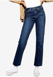 b5a5a9dd0c0d6 Dorothy Perkins Petite Black Frankie Ankle Grazer Jeans RM 149.00 NOW RM  118.90; Indigo Raw Hem Straight Leg Jeans TOPSHOP ...