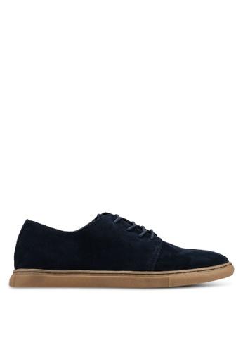 Mango Man 藍色 麂皮拼接運動鞋 A7784SH945C266GS_1