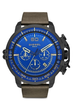 c4180e1a Diesel green Diesel Deadeye Dark Brown Leather Watch DZ4405 DI095AC83NLCMY_1