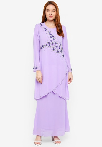 Kurung Bainun from Amin jauhary in Purple