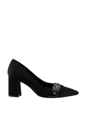 eq:iq black eqROSITA Star Studded Block Heel Pumps EQ351SH65XTESG_1