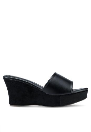 Bata 黑色 休閒楔型涼鞋 9B16DSH01EA198GS_1