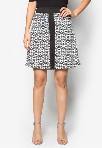 Mono Heart Jacquard A-Line Skirt, 服飾,zalora 台灣 迷你裙