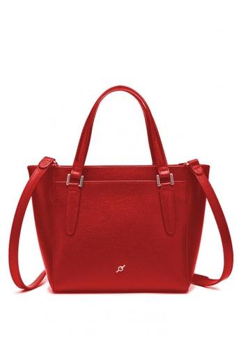 ENZODESIGN red Saffiano Leather Top Zip Crossbody Bag 581E7AC3A2380EGS 1