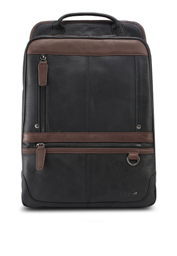 RAV Design black Casual Leather Backpack 78314AC7949D54GS_1