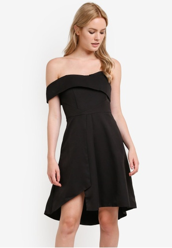 Preen & Proper black Off The Shoulder Dress PR614AA31YRGMY_1