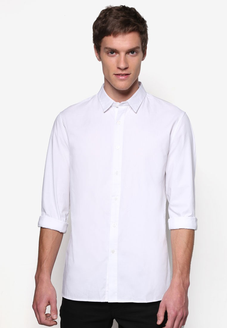 Textured Oxford Long Sleeve Shirt