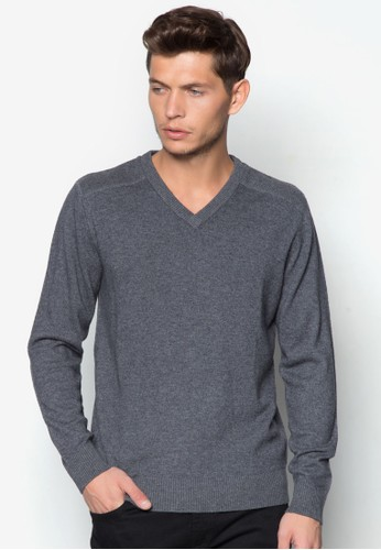 V 領長袖衫, esprit官網服飾, 運動衫