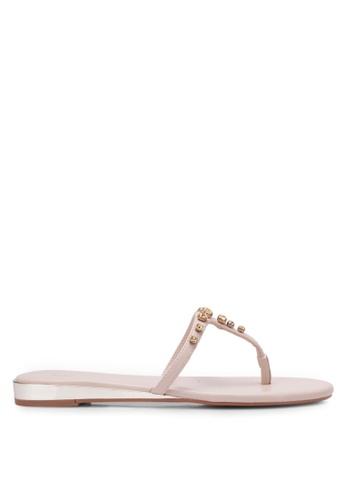 Nose beige Diamond Stone Sandals NO327SH0RVLPMY_1