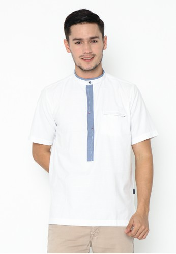 AL-LUTHFI white Koko Lengan Pendek Abudzar - Broken White B1D48AABE565F0GS_1