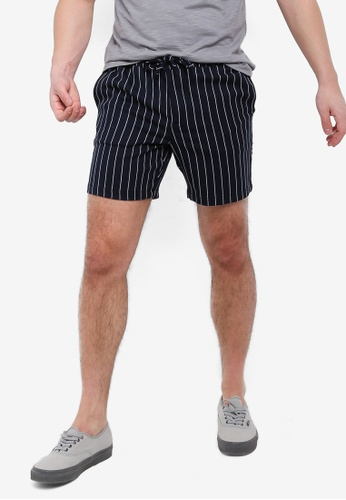 c60f3b1b14bd9 Buy Topman Navy Pinstripe Pull On Shorts Online on ZALORA Singapore