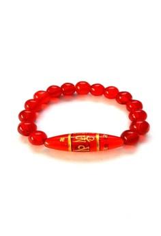 Feng Shui Red Quartz Protection Mantra Bracelet