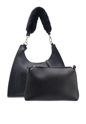 Berrybenka black Natania Decca Shoulder Bag FDC5DACC03553EGS_1