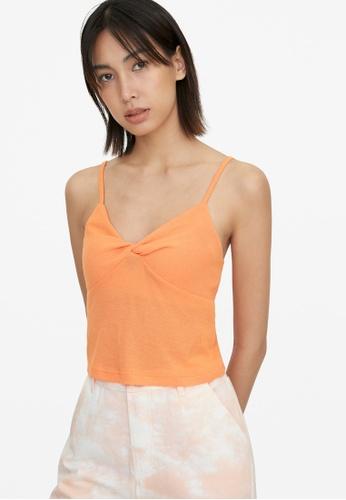 Pomelo orange Knit Crop Cami - Orange 8D400AA900E9BBGS_1