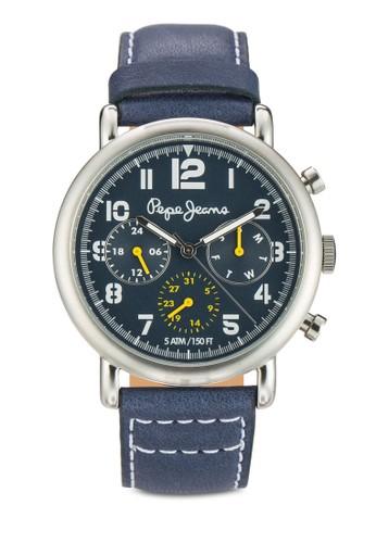 R2351105005 Chzalora 包包評價arlie 數字皮革圓錶, 錶類, 飾品配件