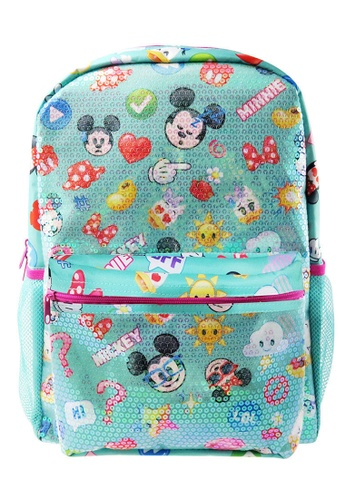 Disney Mickey blue Disney Mickey Mouse Emoji Sequin Teen Backpack E3C85KCDDAA8C8GS_1