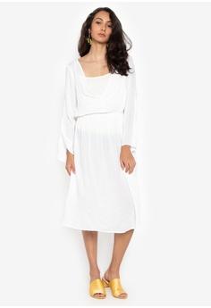 d3ca9c45a2 Spring Fling white Vneck Long Sleeves Dress E3E73AADD643CEGS 1