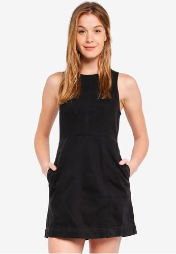 Abercrombie & Fitch black Denim Zip Back Dress 62DD6AA584A3D0GS_1