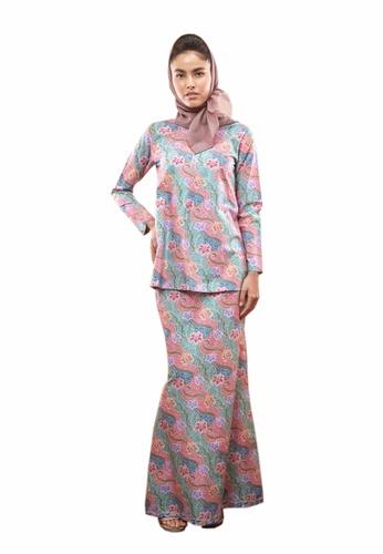 TUSCA pink Waffiya Kurung Mini 0A6B2AA6CD39B2GS_1
