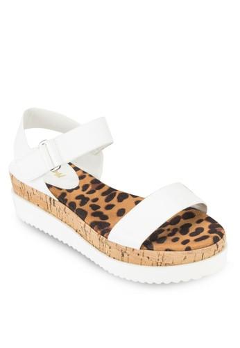 印花木製厚底涼鞋, esprit暢貨中心女鞋, 鞋