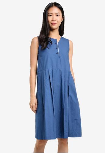 WEEKEND SUNDRIES blue Brunchtime Dress WE453AA0FXUCSG_1
