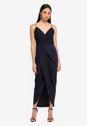 Forever New navy Charlotte Drape Maxi Dress C4B2CAA51FBA1EGS_1