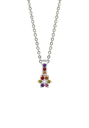 SC Tom Silver silver Colorful Flower Pendant with Chain- SP041 w/chain SC872AC62JWNPH_1