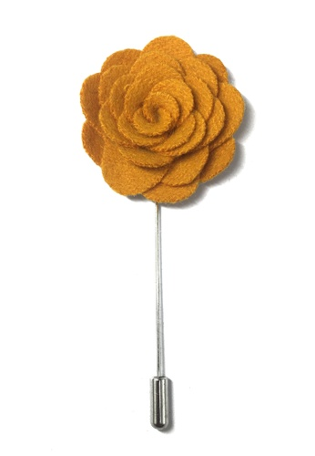 Splice Cufflinks orange Orange Classic Camellia Fabric Flower Lapel Pin SP744AC51UCUSG_1