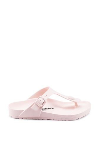 Birkenstock pink Gizeh EVA Sandals 69F92SHFA2F0FAGS_1