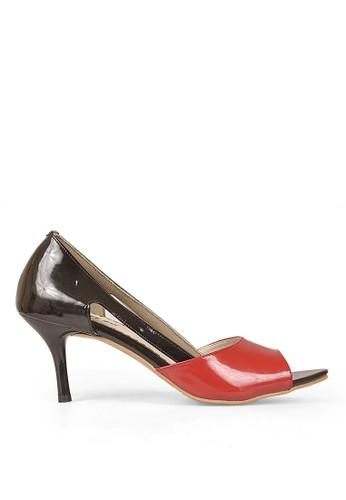Cbr Six Women High Heel Shoes Owc 185 Black/Red