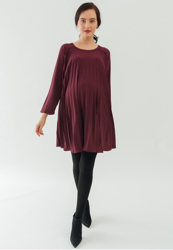 a124acb98cfd06 Buy Bove by Spring Maternity Long Sleeves Brenna Pleats Dress Online on  ZALORA Singapore