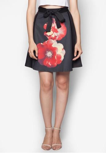蝴蝶結花卉印花短裙, 韓系esprit 內衣時尚, 梳妝