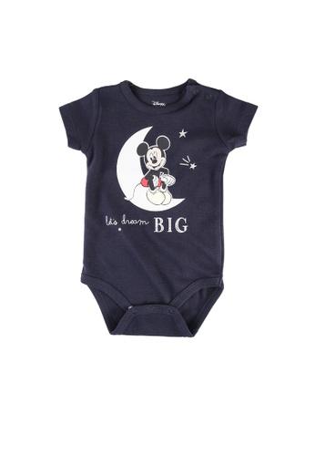 FOX Kids & Baby navy New Born Mickey Print Bodysuit 78AEDKA796C03FGS_1