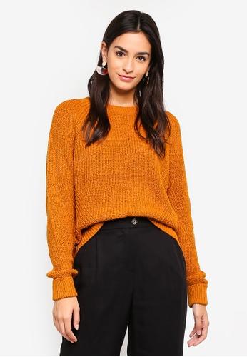 Vero Moda orange Abo Long Sleeve Knit Top 81824AAECC9380GS_1