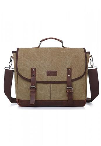 A FRENZ brown Vintage Canvas Messenger Bag AF152AC86NAFMY_1