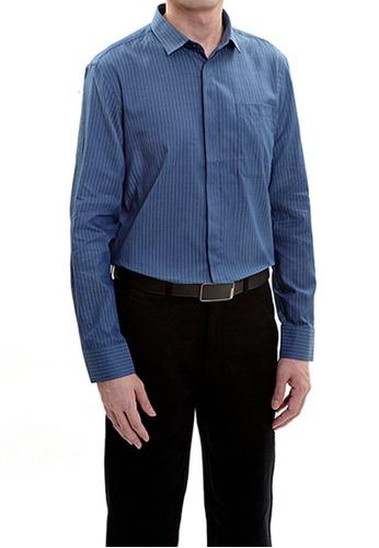 Goldlion blue Goldlion Long-Sleeved Shirt 68C9BAA775AA0EGS_1
