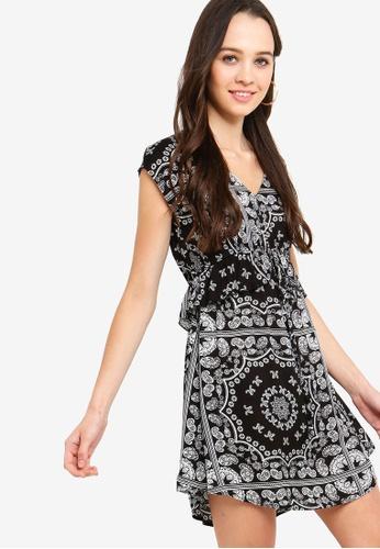Something Borrowed black Peplum Waisted Tie Dress C989AAA48E023CGS_1