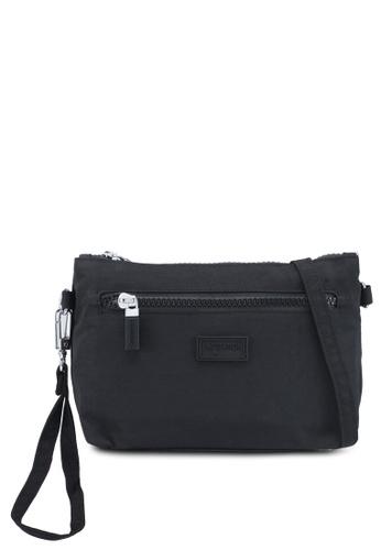 Bagstationz black Crinkled Nylon Wristlet Pouch C47E8AC650B3C8GS_1