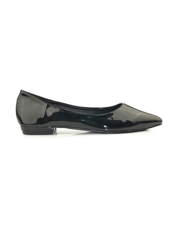 SHINE black Point Toe Groosy Pumps SH554SH0FVIQSG_1