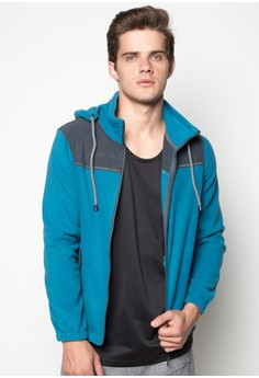 Kyler Detachable Hood Jacket with Draw String and Zipper Detail