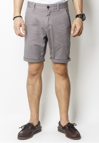 2nd Edition grey Casual Shorts in Mauve Grey 4D7D1AA1F3C4A9GS_1