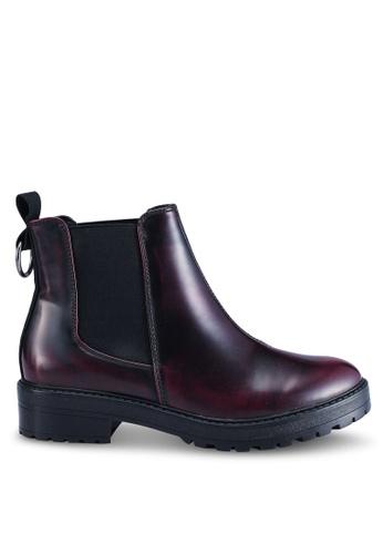 ONLY 紅色 質感靴子 354EESH734CFDBGS_1