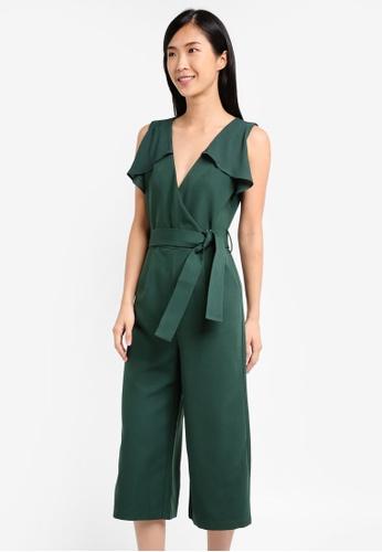 ZALORA green Wrap Jumpsuit AD459AA59C1C72GS_1