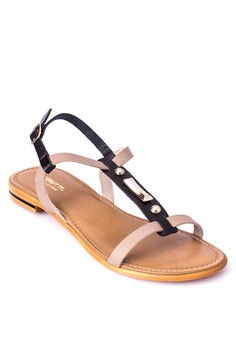 Slip On Sandals With Ankle Strap