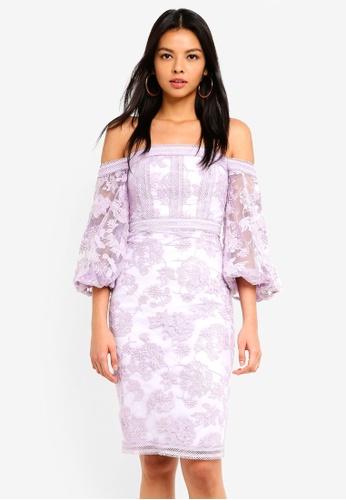 Forever New purple Bianca Balloon Sleeve Mini Dress 692F7AA93F505EGS_1